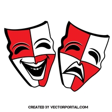 theater mask clipart free vectors.