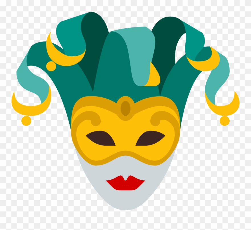 Theatre Vector Jester Mask.
