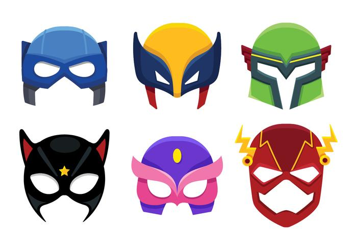 Superhero Mask Icon Cartoon.
