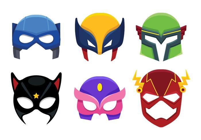 Superhero Mask Icon Cartoon.