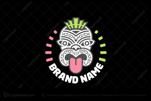 Exclusive Logo 58287, Tribal Mask Logo.
