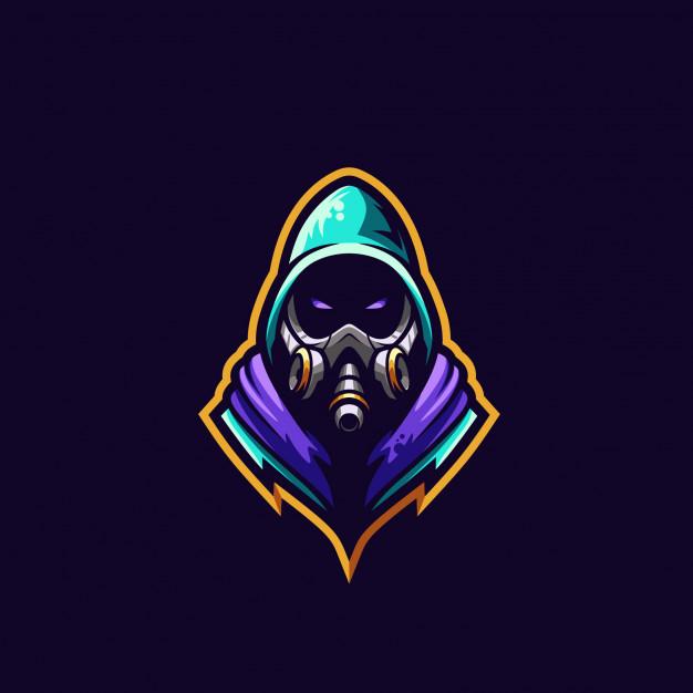 Gas mask logo premium illustration Vector.