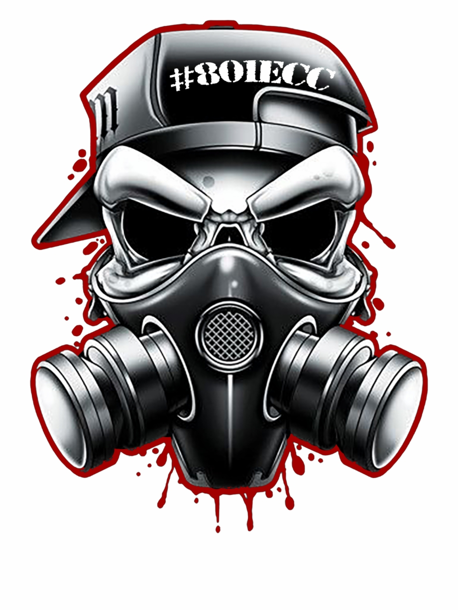Skull And Gas Mask Tattoos , Png Download.