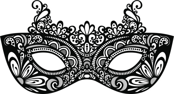Venetian mask clip art.