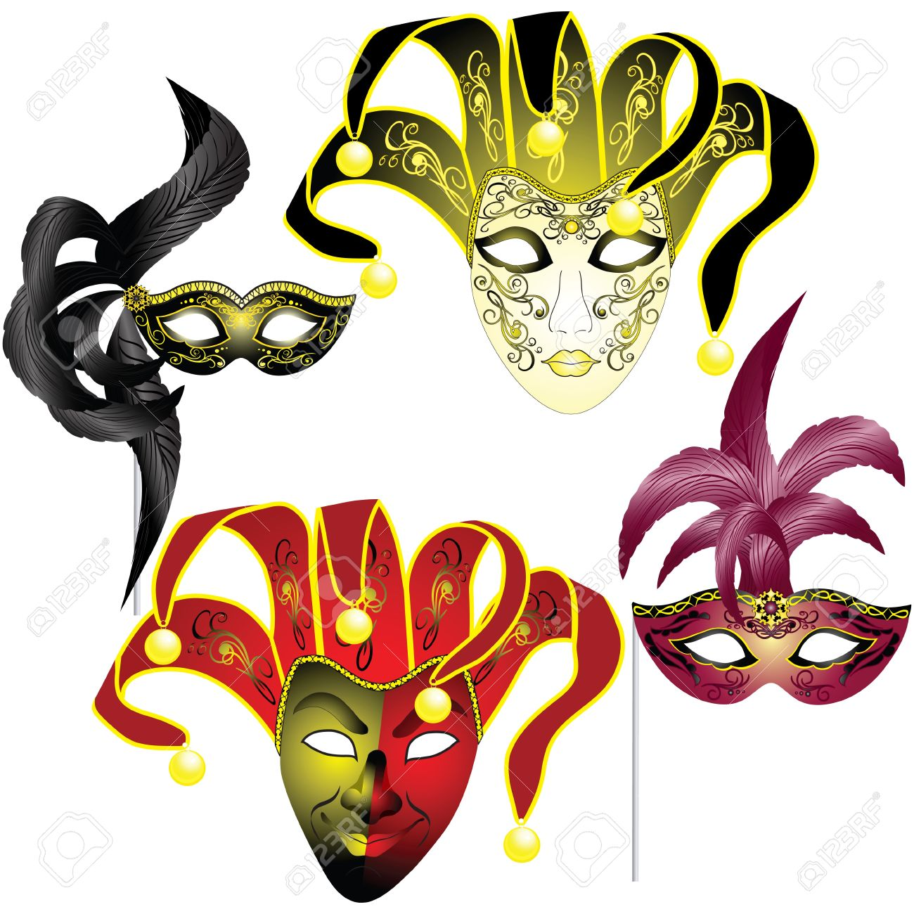 Mask Of Venice Clipart