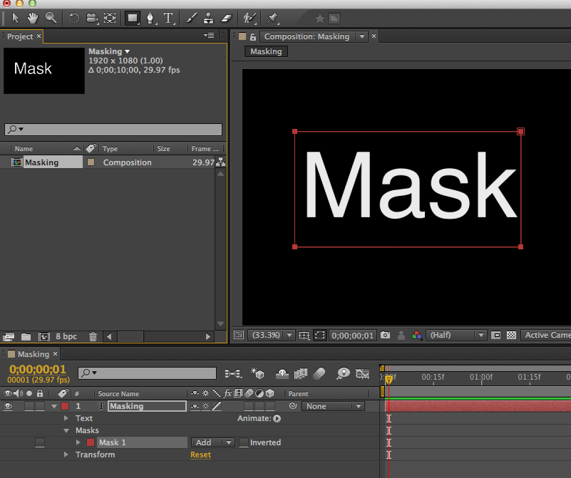 Mask vs Shape Layers in After Effects.