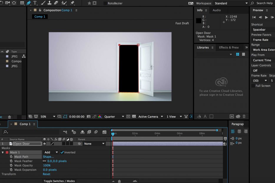 Creating Alpha Mattes and Masks in After Effects.