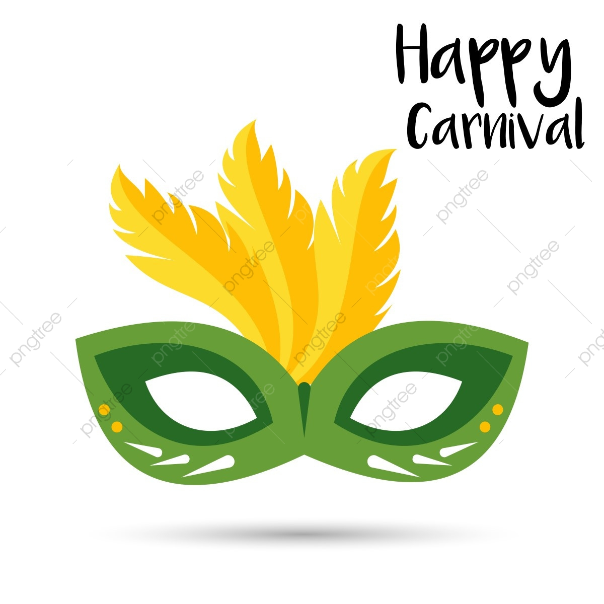 Carnival Card With Mask Vector, Carnival, Background, Mask.