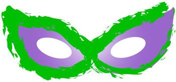 Ninja masked eyes clipart.