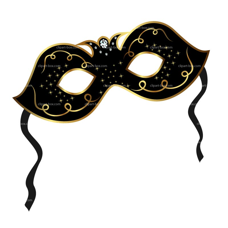Masquerade Party Clipart.