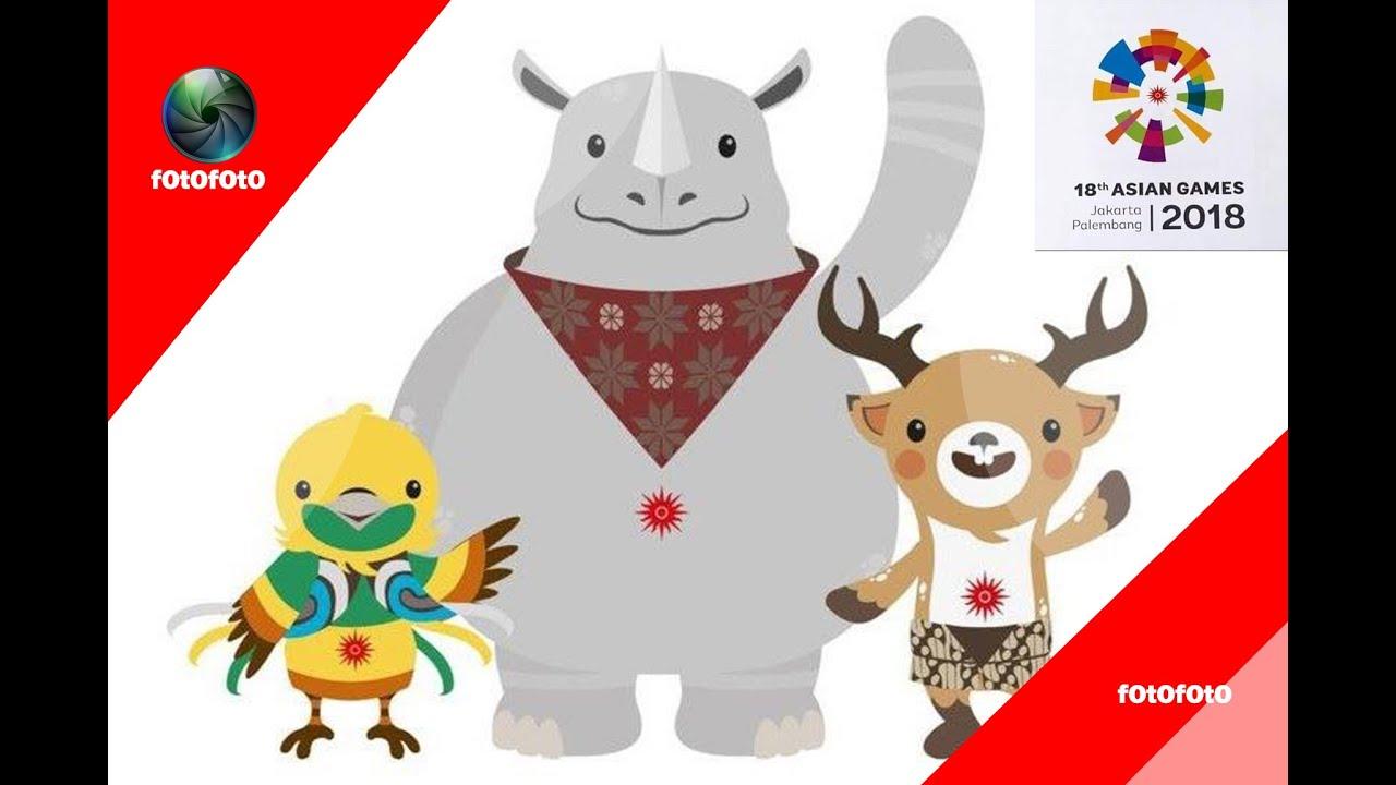 Asian Games Mascot Vector 2019.