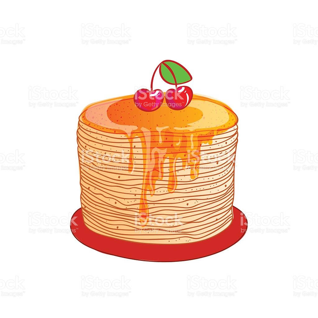 Pancake Is A Symbol Of Russian Holiday Maslenitsa Vector stock.