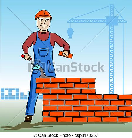 Vectors Illustration of Builder working.
