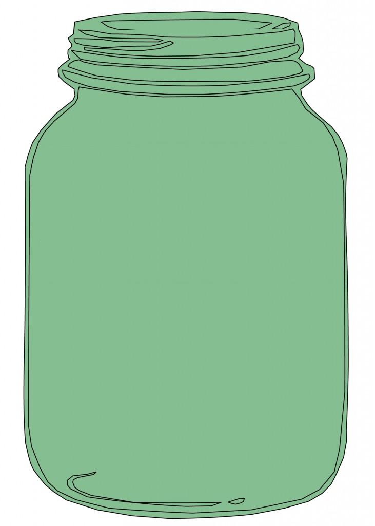 Mason Jar Invitation Clipart.