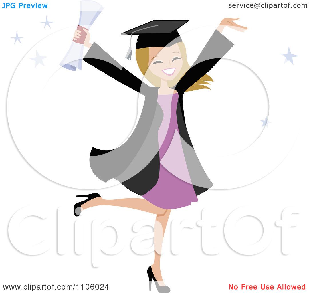 Clipart college graduate silhouette degree.