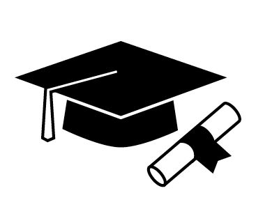 Clipart college graduate silhouette degree.