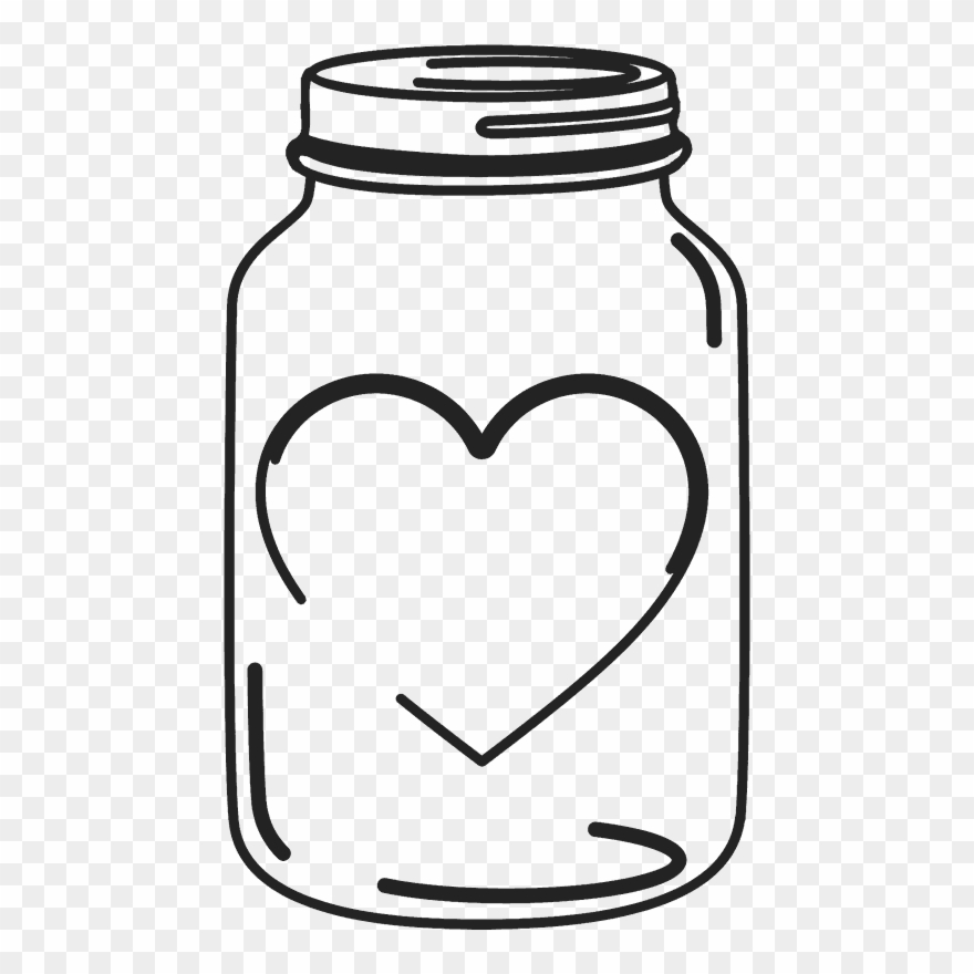 Mason Jar Clipart Heart.