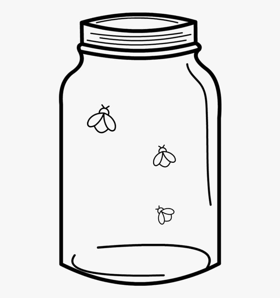 Free Cut File Download Mason Jar & Fireflies, Free.