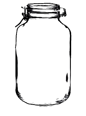 CLIP ART :: Large clamp mason jar (CLICK FOR MORE JAR IMAGES.