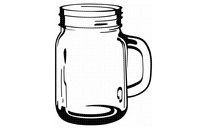 glass mason jar svg, dxf, vector, eps, clipart, cricut.