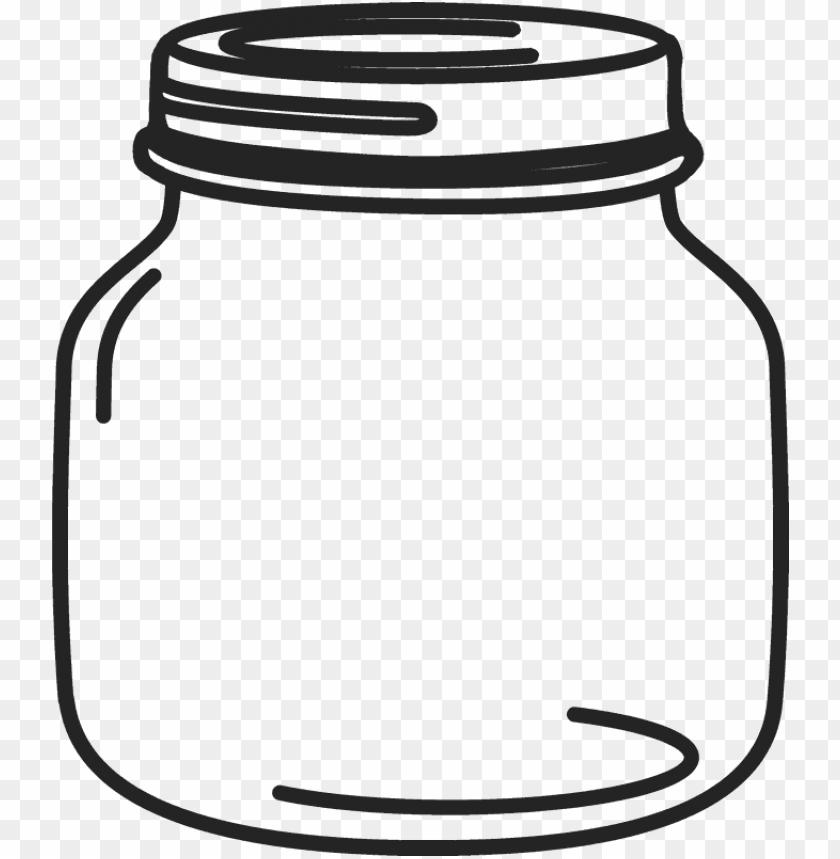 etite mason jar rubber stamp.