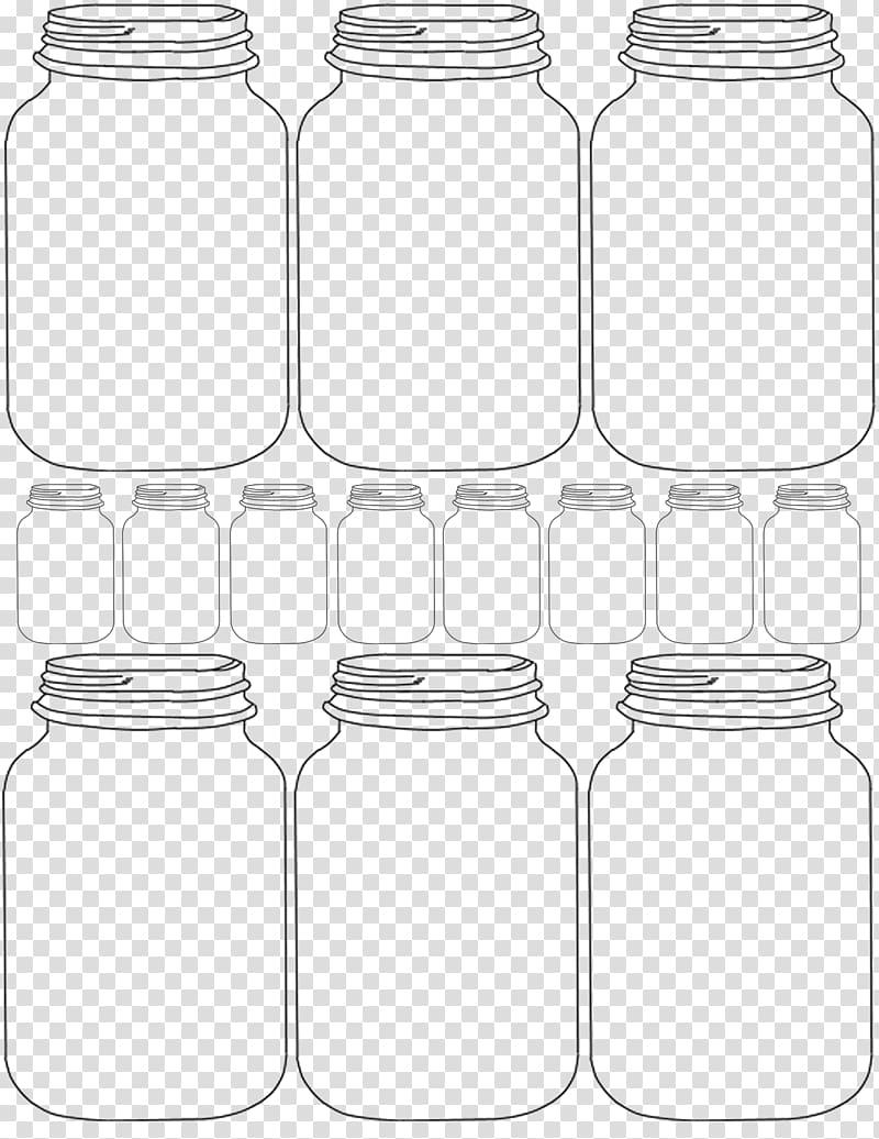 Jars sketch art, Paper Mason jar Gift Template, mason jar.