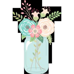 free mason jar wedding clipart.