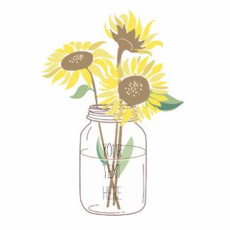 Download High Quality sunflower clipart mason jar.