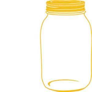 Mason Jar Sunflower Clip Art.