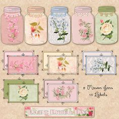 Flowers hanging jars clipart tree branch mason jar clipart peach.