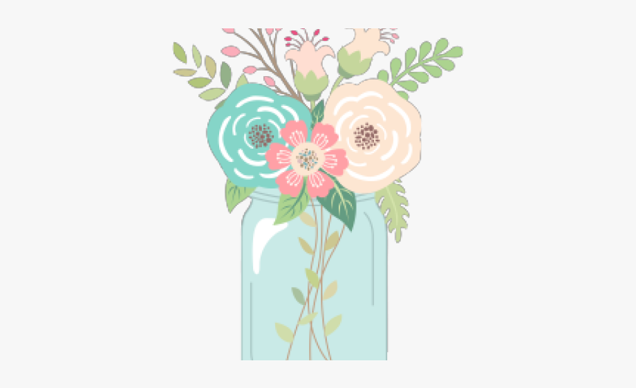 Wedding Clipart Mason Jar.