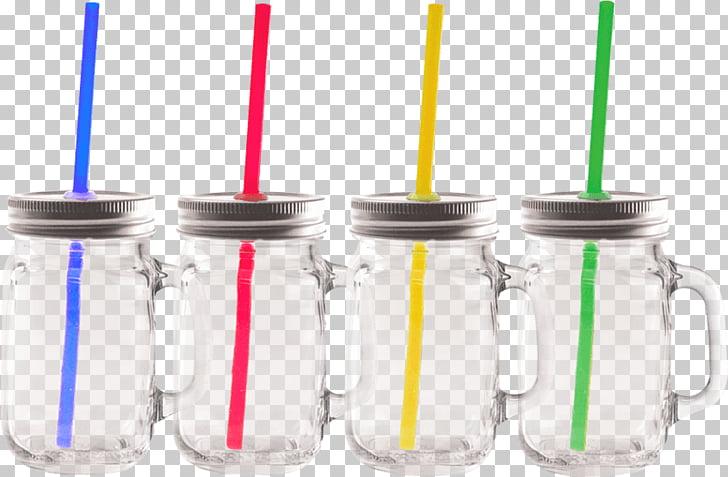 Mason jar Plastic Glass Cylinder Drinking straw, mason jar.