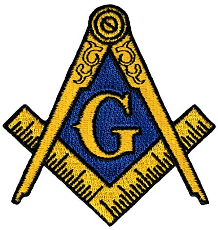 Masonic Logo Patch Embroidered Iron.