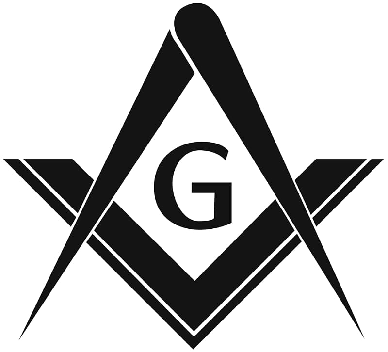 Black G logo, Square and Compasses Freemasonry Masonic lodge.