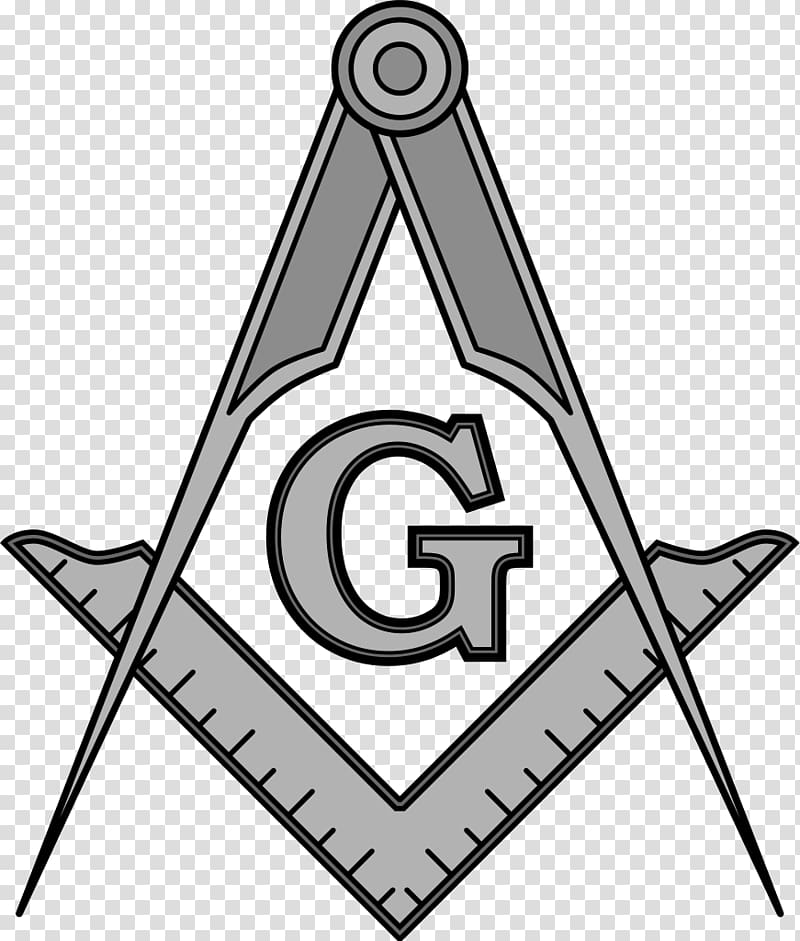 Freemason logo, Square and Compasses Freemasonry Symbol.