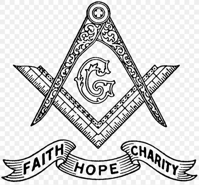 Freemasonry Square And Compasses Hope Faith Charity, PNG.