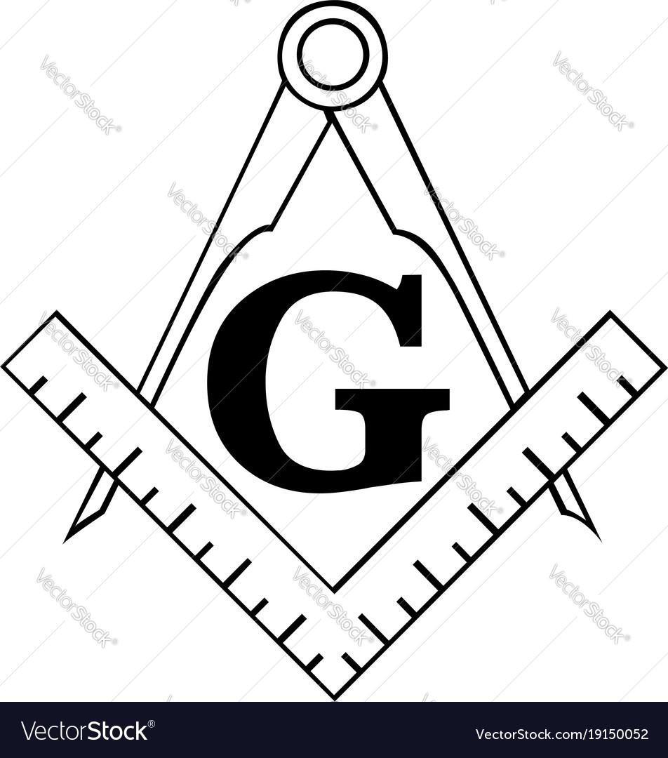 The masonic square and compass symbol freemason.