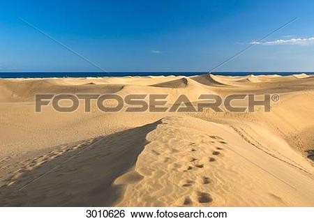 Stock Images of Sand dunes of Maspalomas, Gran Canaria, Canary.