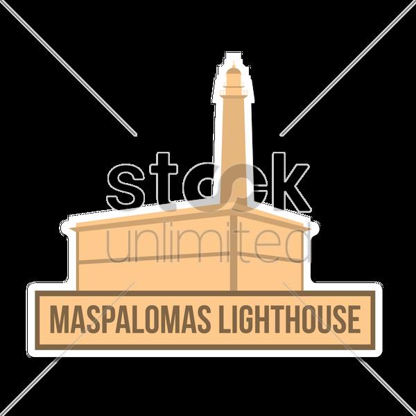 Maspalomas lighthouse Vector Image.