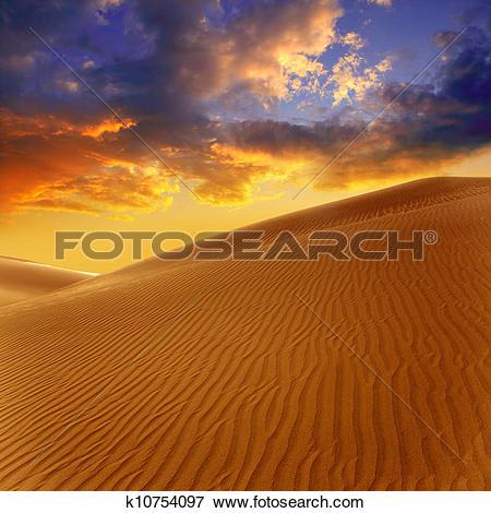 Picture of Desert sand dunes in Maspalomas Gran Canaria k10754097.