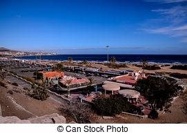 Stock Photographs of Beach in Maspalomas.