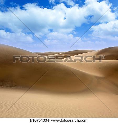 Stock Photo of Desert dunes sand in Maspalomas Gran Canaria.