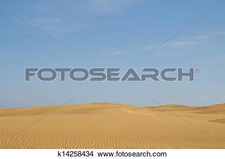Stock Photo of Las Dunas de Maspalomas k14258434.