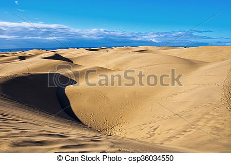 Stock Images of Maspalomas dunes in Gran Canaria.