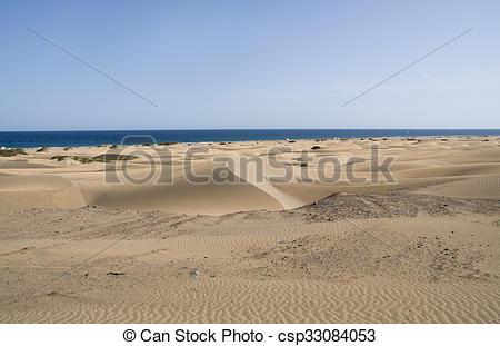 Stock Images of Las dunas de Maspalomas beach, Gran Canaria.
