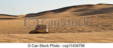 Stock Illustrations of A Hat at the Dunes of Maspalomas.