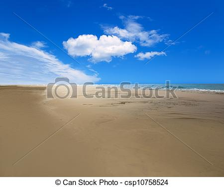 Stock Photo of Maspalomas Playa del Ingles beach in Gran Canaria.