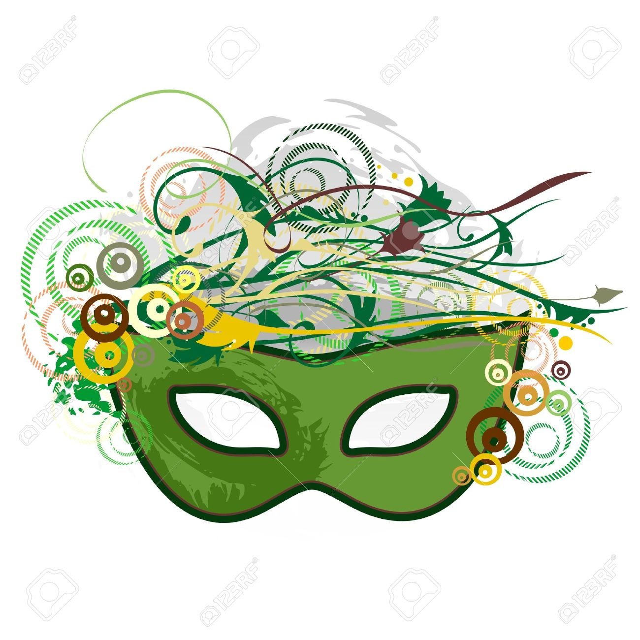 Carnival Purim Festival Mask Pop Art Abstract Nature Royalty Free.