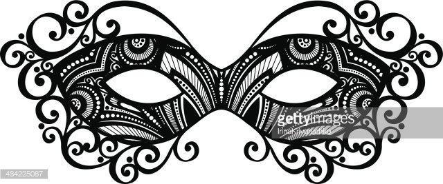 Beautiful Masquerade Mask Clipart Image.