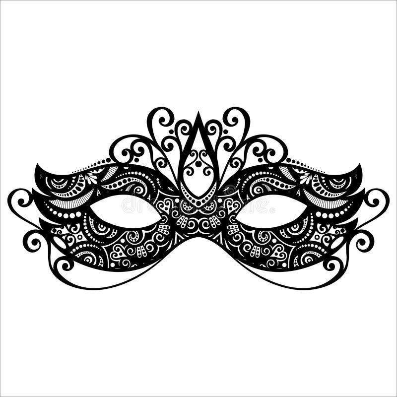 Masquerade Mask Stock Illustrations.